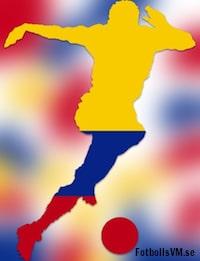 Laguppställning Colombia