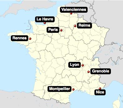 Fotbolls-VM damer städer